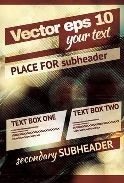 vintage club flyer cover creative vector