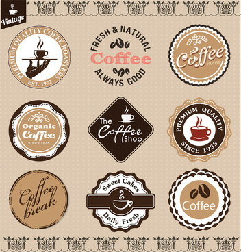 vintage coffee badge