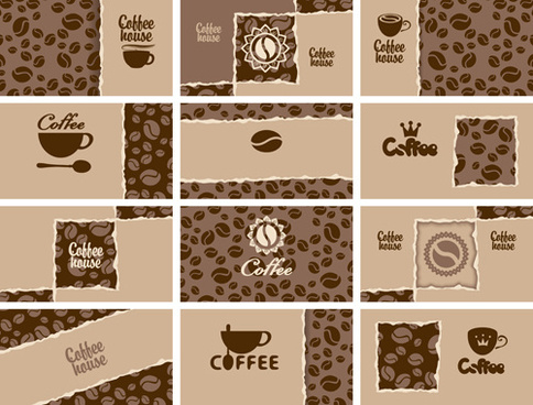 Vector coffee business card free vector download 23933 free vector vintage coffee business cards vector wajeb