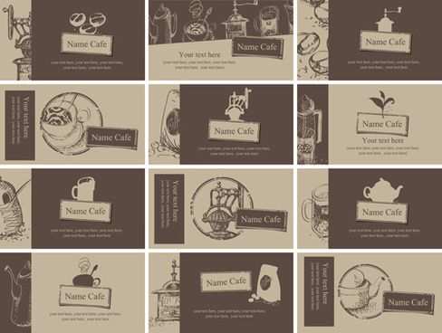 Vector coffee business card free vector download 23933 free vector vintage coffee business cards vector wajeb Choice Image