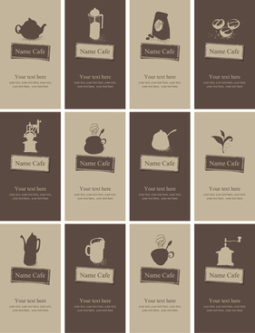 Vector coffee business card free vector download 23748 free vector vintage coffee business cards vector fbccfo Gallery