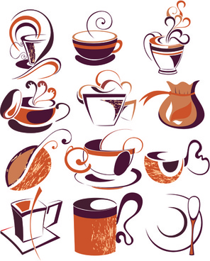 vintage coffee logo design vector