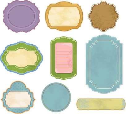 vintage colorful frames vector illustration