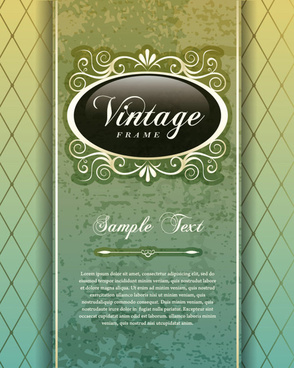 vintage cover the background free vector