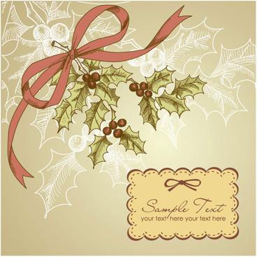 vintage creative christmas cards art vector