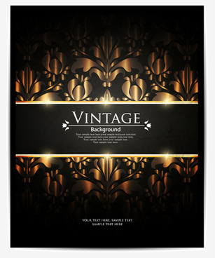 vintage dark backgrounds vector
