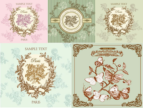 vintage decorate border vector