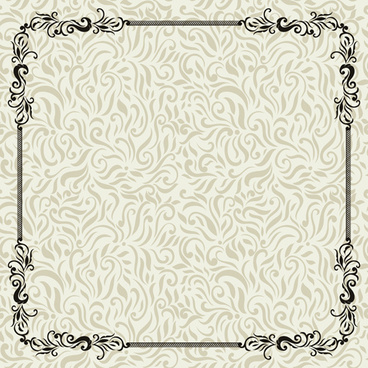 vintage decoration pattern with frame vector