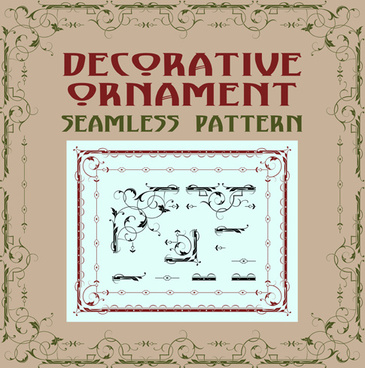 vintage decorative corners with frames vector