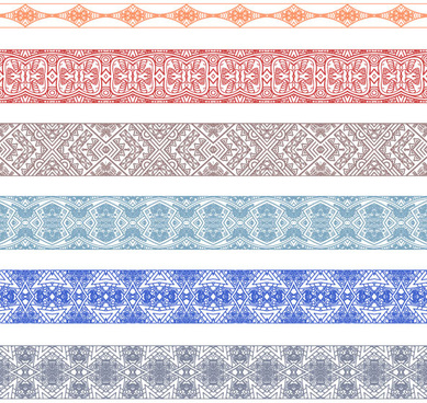 vintage decorative pattern and borders vector set