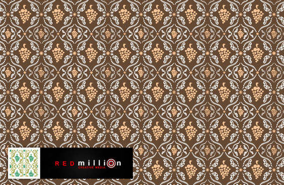 vintage decorative pattern background 3 vector