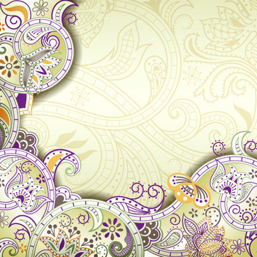 vintage decorative pattern background graphics vector