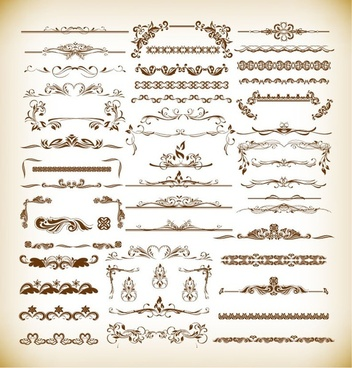 vintage design elements collection vector illustration