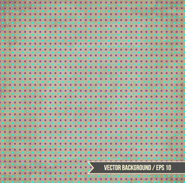 vintage dot pattern background vector