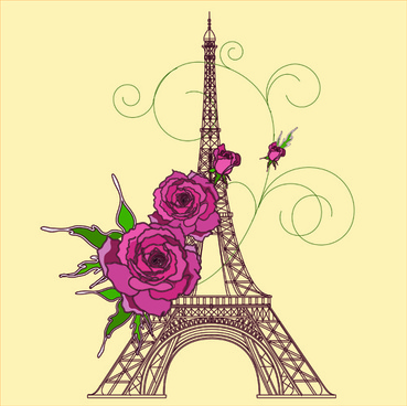 vintage eiffel tower design background
