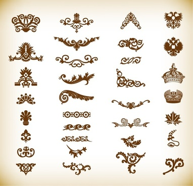 vintage elements for your design vector set
