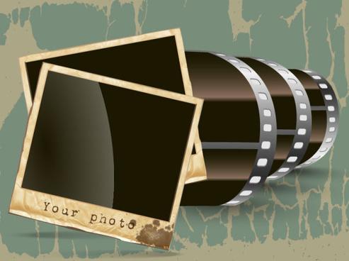 vintage film scrap banckground vector