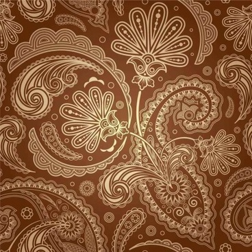 vintage fine pattern background vector