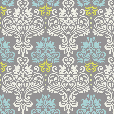 vintage floral decor pattern seamless vector
