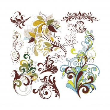 vintage floral design element