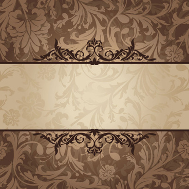 vintage floral frame vector backgrounds set
