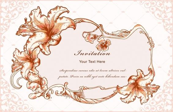 vintage floral frames vector