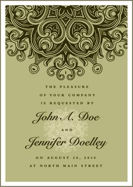 vintage floral invitations cover design vector