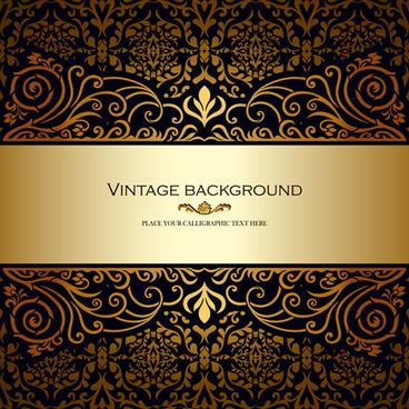 vintage floral luxury background vectors