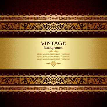 vintage floral luxury background vectors