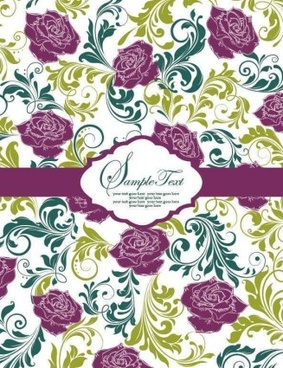 vintage floral pattern background vectors