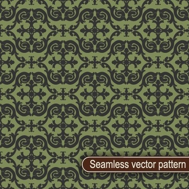 vintage floral seamless vector pattern
