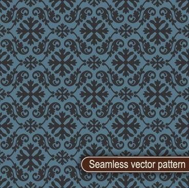 vintage floral seamless vector pattern