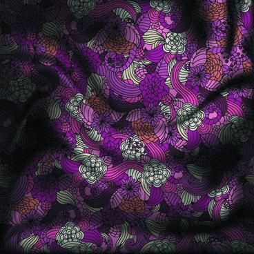 vintage floral textile vector background art