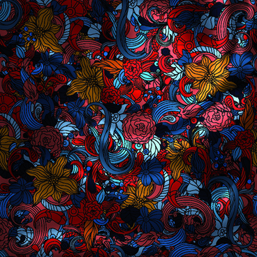 vintage floral textile vector background art