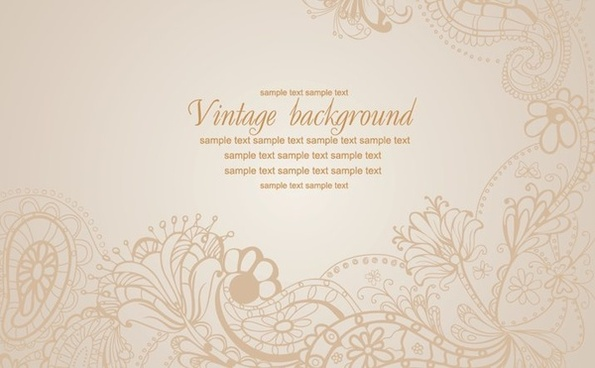 floral background vintage seamless design