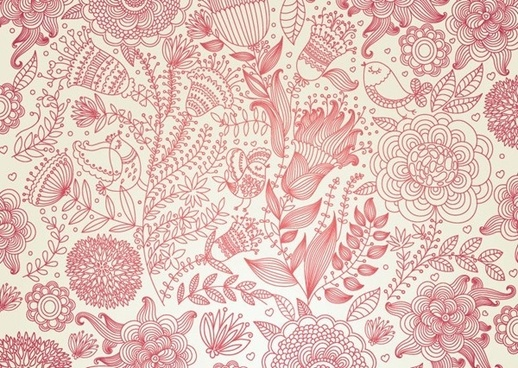 vintage floral vector background
