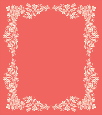 vintage floral with pink background vector