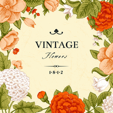 vintage flower design background art