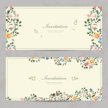 Vintage birthday invitation template free vector download 21227 vintage flower invitation cards vectors stopboris Images