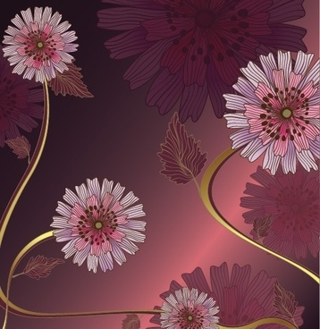 Vintage Flower Vector Background