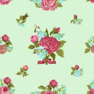 Vintage Flower Wallpaper Pattern Free Vector Download