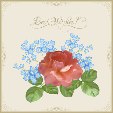 Best wishes card design free vector download 13314 free vector vintage flower wishes cards design vector m4hsunfo