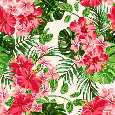 vintage flowers vectors seamless pattern