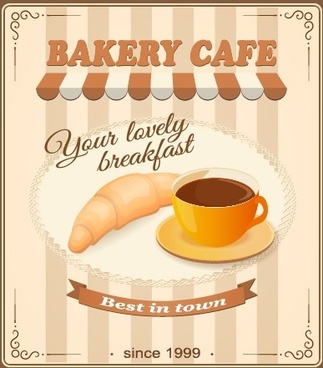 vintage food advertising poster design vector