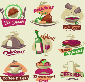 vintage food logo vector