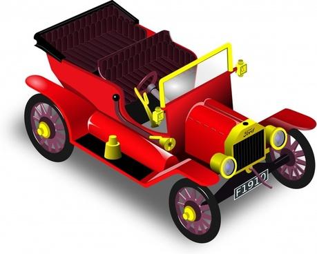 vintage ford red car