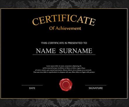 vintage frame certificate template vectors