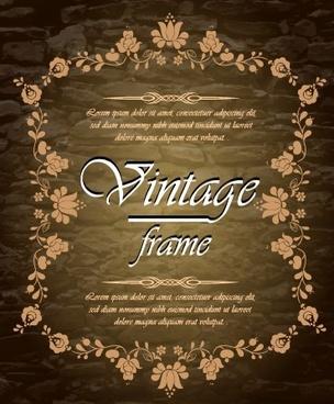 vintage frame design vectors set