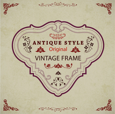 vintage frame design with antique style