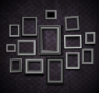vintage frame on the wall vector